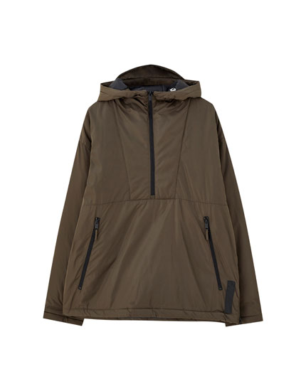 Basic coloured anorak jacket