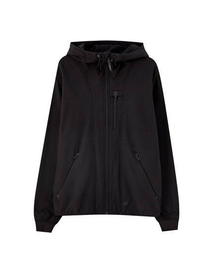 Synthetic rubber hoodie