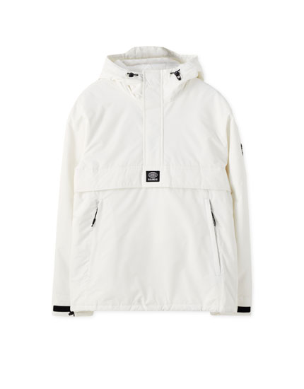 Lightweight jacket with embroidered logo