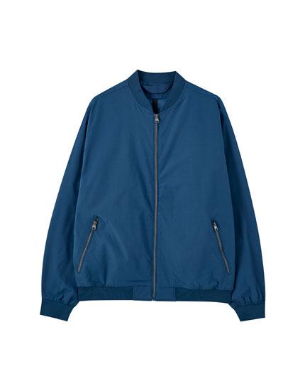 Lightweight coloured bomber jacket