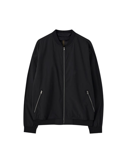 Lightweight coloured bomber jacket