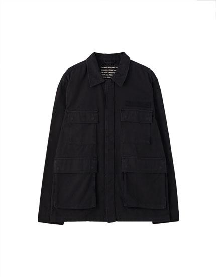 Workwear-Jacke mit Pattentaschen