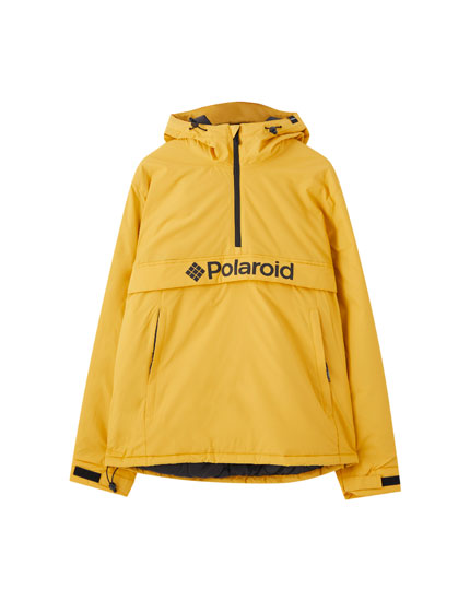 Mustard yellow Polaroid anorak jacket