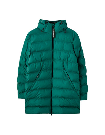 Seamless puffer coat