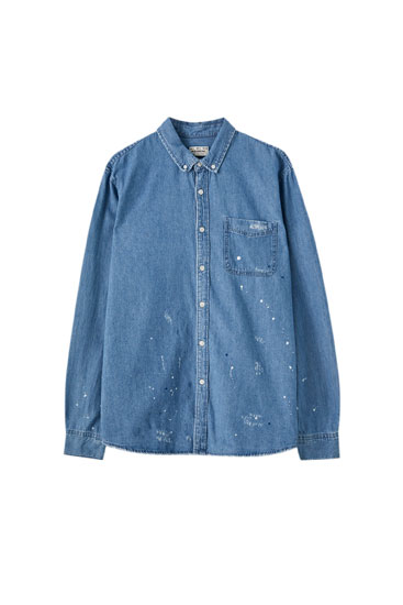 Basic-Hemd aus Baumwolle