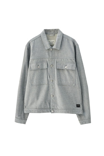 Cazadora denim gris