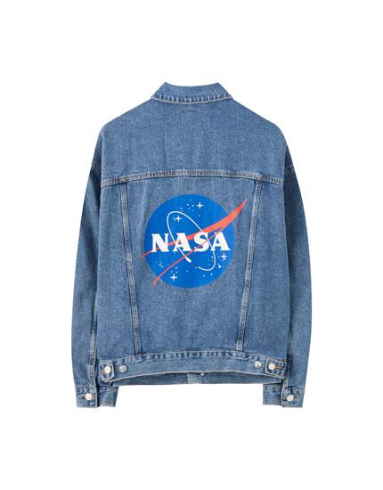 Oversize NASA denim jacket