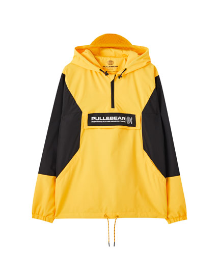 Blouson anorak color block
