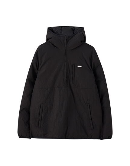 Black reversible anorak jacket