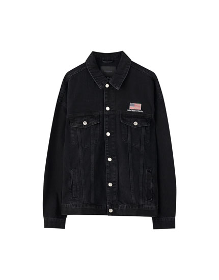 Black NASA denim jacket