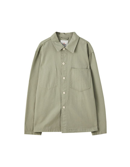 Carpenter overshirt with pockets