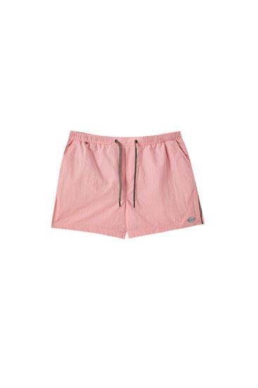 Basic swimming trunks with elastic waistband