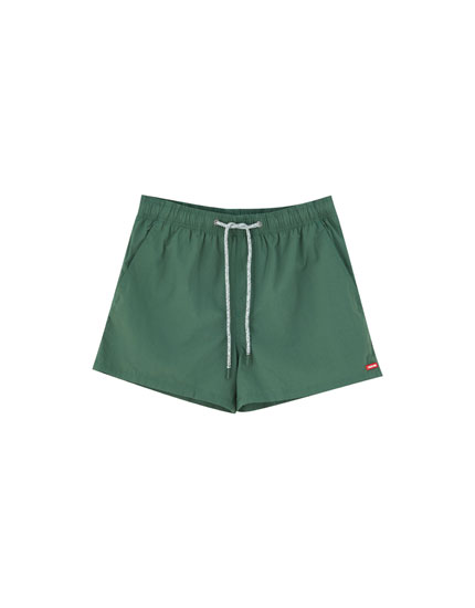 Basic plain swimming trunks
