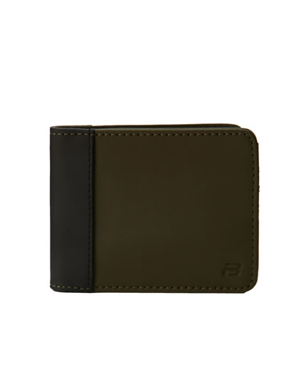 Panelled wallet with elastic fastening