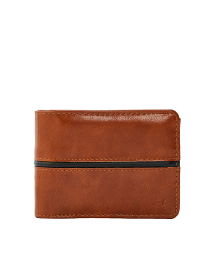 Wallet with black strip detail