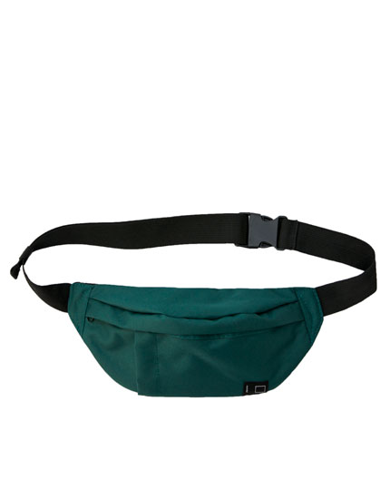 Basic plain green belt bag