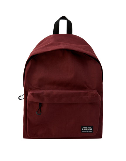 Basic burgundy logo backpack