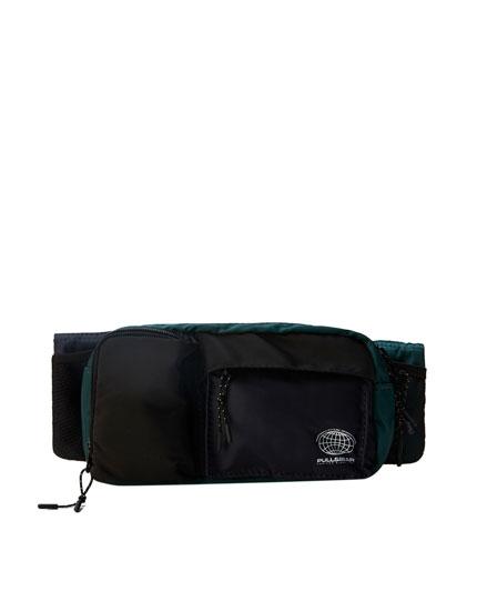 Green belt bag with multiple pockets