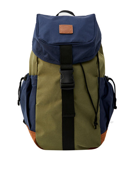 Contrast colour block hiking backpack