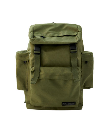 Khaki hiking backpack