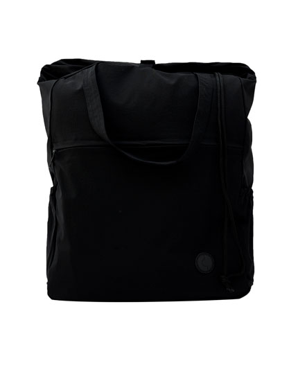 Black elastic backpack