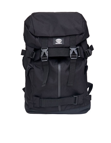 Technical black backpack