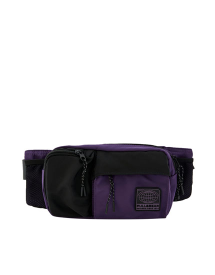 Belt bag with lilac colour block design