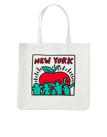 Keith Haring fabric bag
