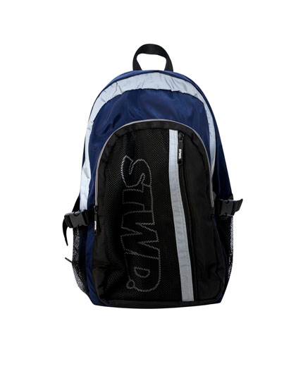 STWD colour block backpack