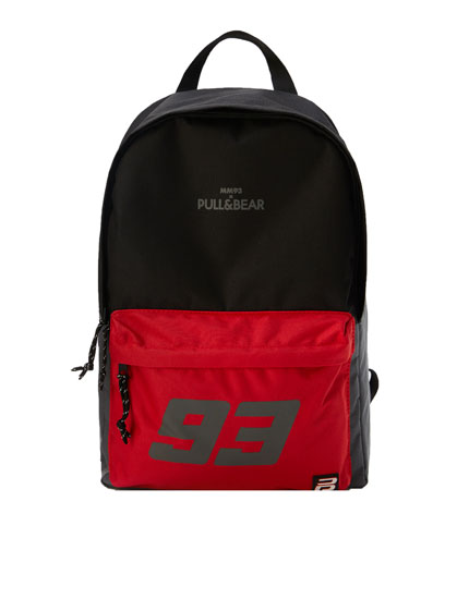 Marc Márquez 93 backpack with contrast detail