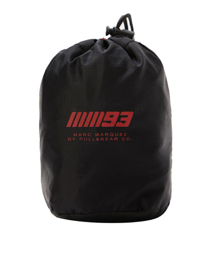 Marc Márquez 93 backpack cover with slogan