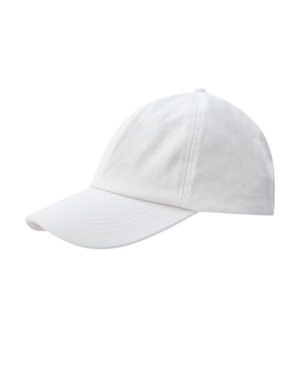 Basic white cap