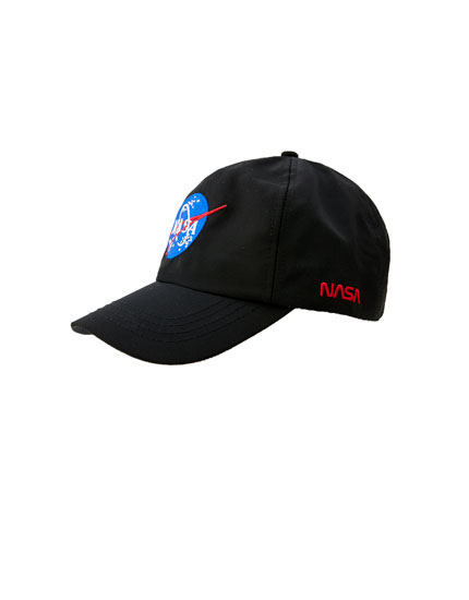 Black cap with NASA logo