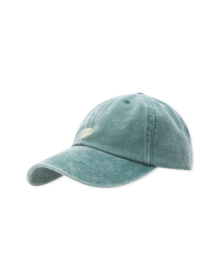 Faded cap with logo