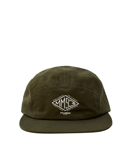 Green MM93 cap with five-panel design