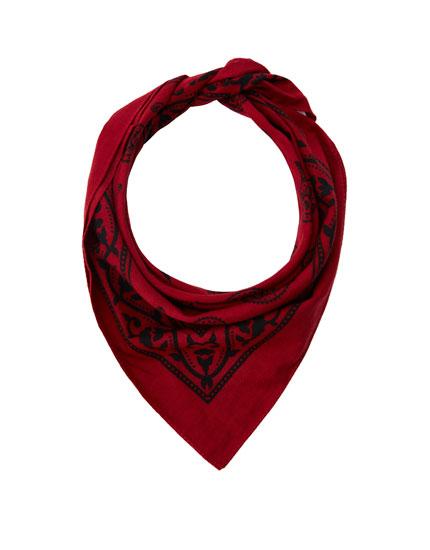 Classic red bandana