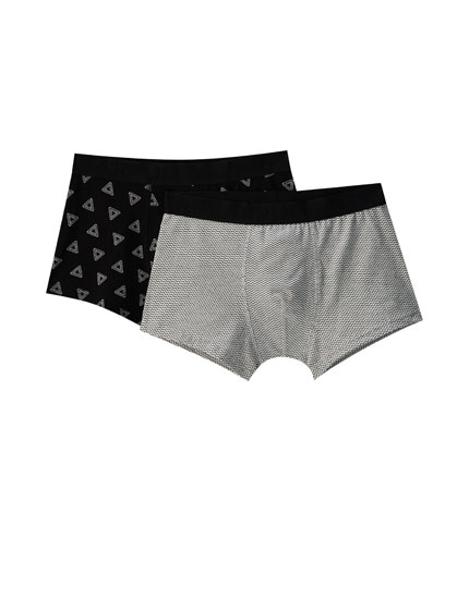 2-pack of geometric print boxers