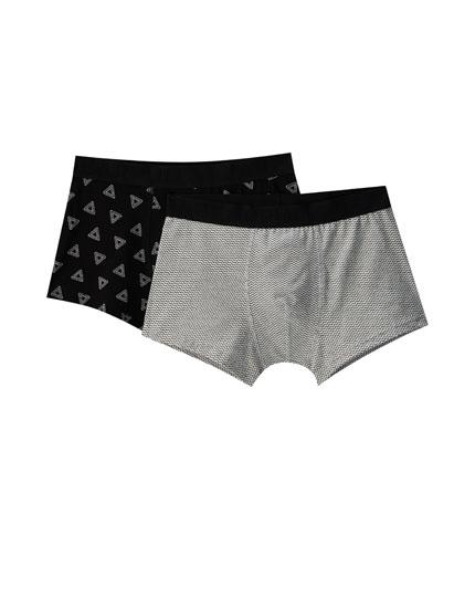Pack 2 boxers estampado geométrico