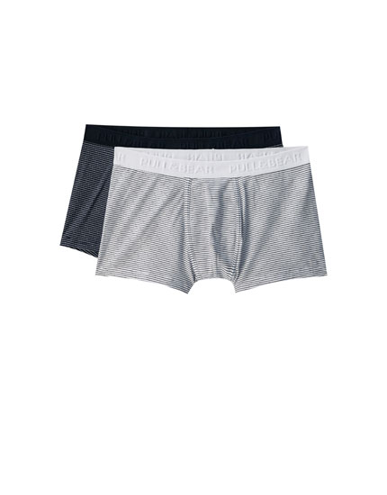 Lot de 2 boxers fines rayures