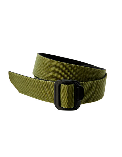 Khaki fabric belt