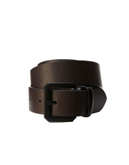 Faux leather textured cowboy belt