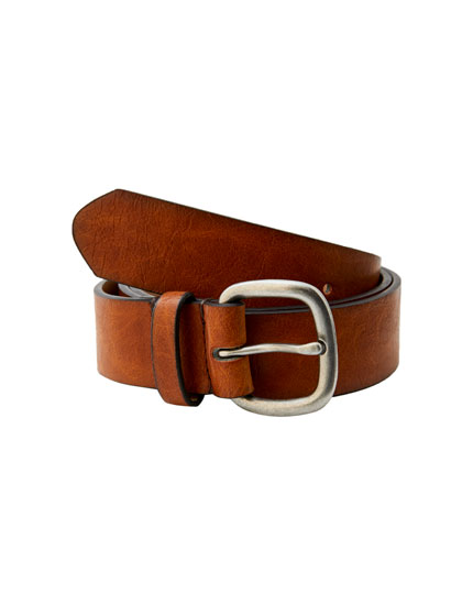 Brown belt with ombré edges