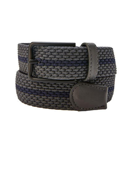 Grey belt with contrasting stripe