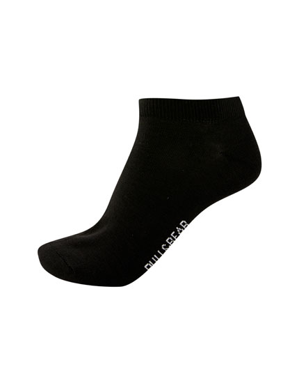 5-pack of short black socks