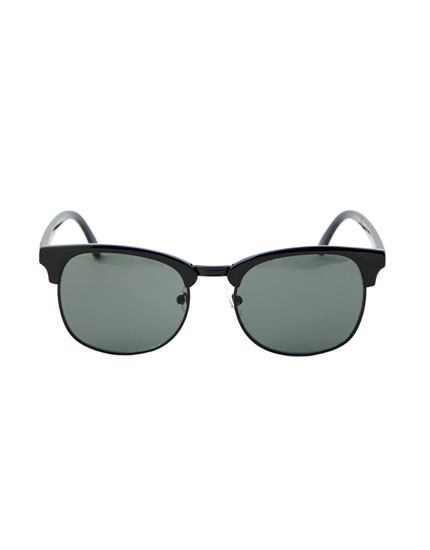 Black-framed sunglasses