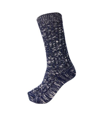 Μπλε μελανζέ αθλητικές κάλτσες