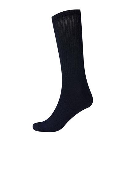 Ribbed coloured sports socks