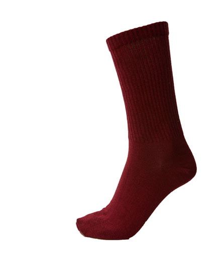 Ribbed coloured sports socks