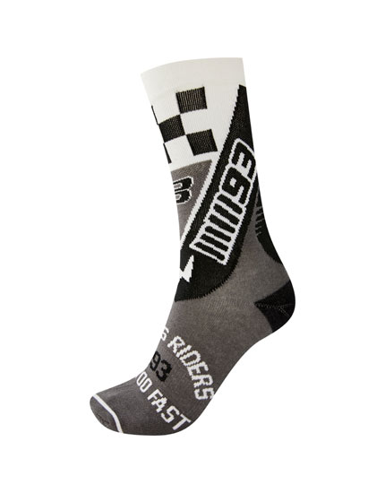 Grey Marc Márquez 93 socks