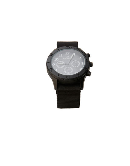 Black reflective watch